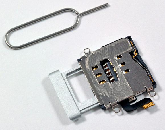 Отломился контакт слота для сим карт в телефоне
